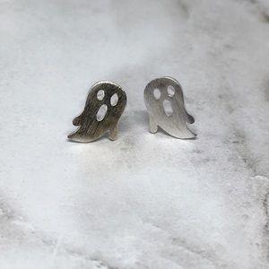 Jewelry - Minimalist Silver Ghost Earrings